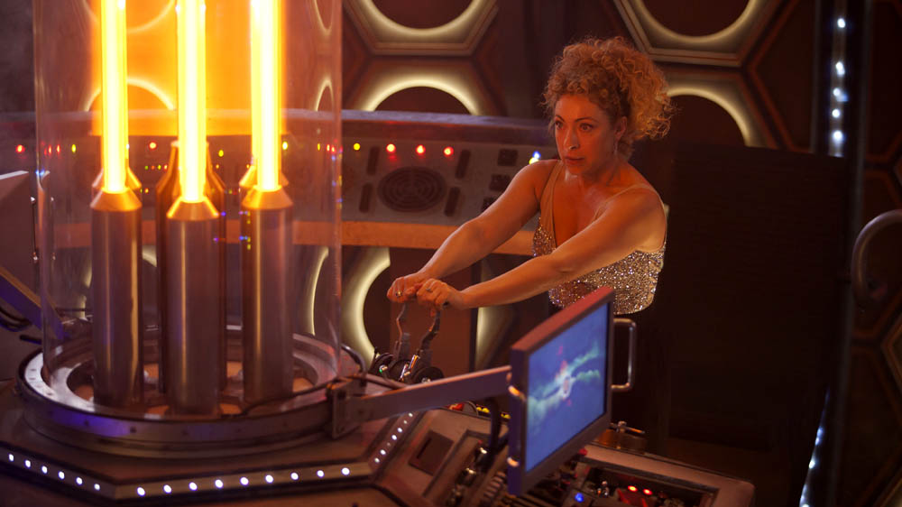 WARNING: Embargoed for publication until 00:00:01 on 05/12/2015 - Programme Name: Doctor Who - TX: 25/12/2015 - Episode: n/a (No. n/a) - Picture Shows: ***EMBARGOED UNTIL 00:01hrs 5th DEC 2015*** River Song (ALEX KINGSTON) - (C) BBC - Photographer: Jon Hall