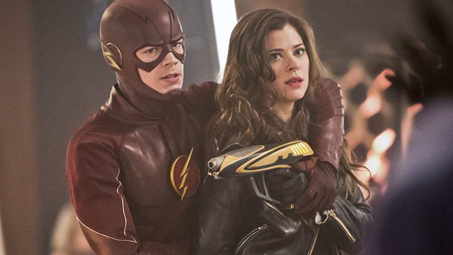 "The Flash -- ""Rogue Time"" -- Image FLA116B_0129b -- Pictured (L-R): Grant Gustin as Barry Allen / The Flash and Peyton List as Lisa Snart -- Photo: Dean Buscher/The CW -- © 2015 The CW Network, LLC. All rights reserved."